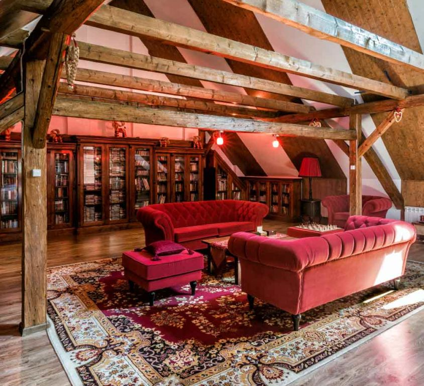 Book and film library and a room for listening to music