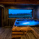 Russian Banya with a view over the mountains