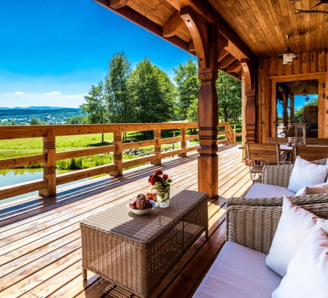 Sun terrace of the Russian Banya
